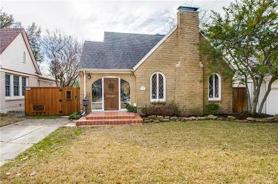 Dallas Single Family Home For Sale: 5546 Vanderbilt Avenue