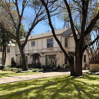 Dallas County Single Family Home For Sale: 6616 Lakewood Boulevard