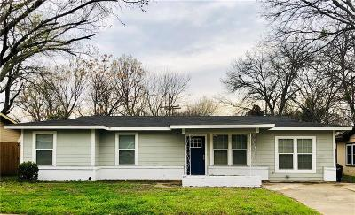 Fort Worth TX Single Family Home For Sale: $157,000