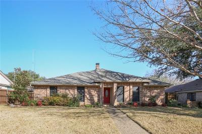 Plano Single Family Home Active Option Contract: 1821 Pleasant Valley Drive