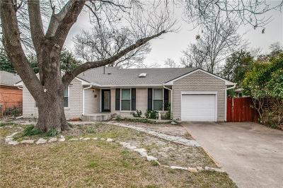 Richardson Single Family Home Active Option Contract: 619 Ridgedale Drive