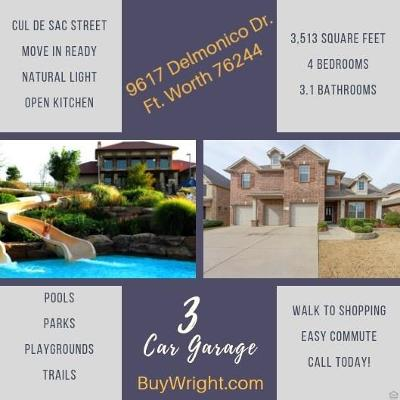 Fort Worth TX Single Family Home For Sale: $368,865
