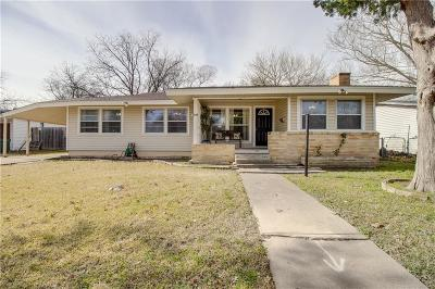 Garland Single Family Home Active Option Contract: 1525 Elizabeth Drive