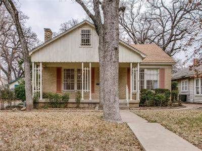 Fort Worth TX Single Family Home For Sale: $195,000