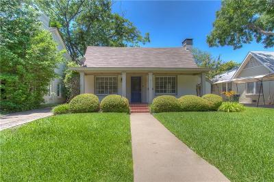 Fort Worth Single Family Home For Sale: 3208 Waits Avenue