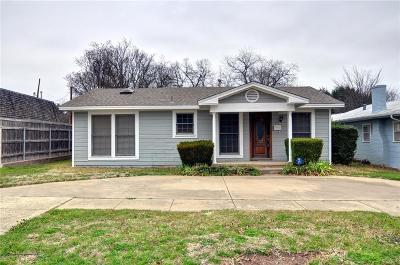 Fort Worth Single Family Home For Sale: 4632 Pershing Avenue