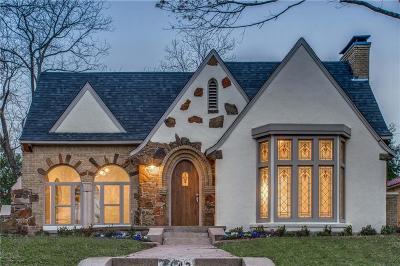Dallas County Single Family Home For Sale: 6642 Lakeshore Drive