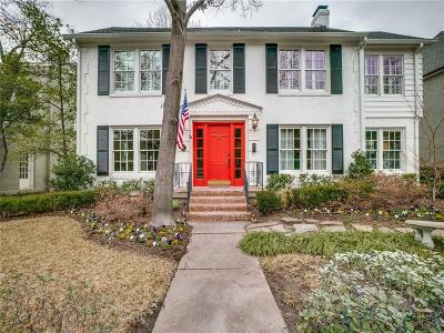 University Park TX Single Family Home For Sale: $1,350,000