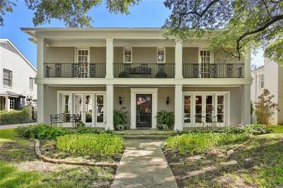 Highland Park Single Family Home For Sale: 4549 Rheims Place