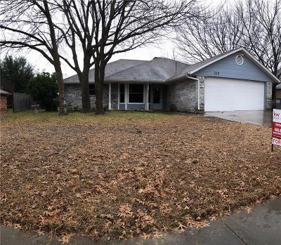 Red Oak Single Family Home Active Option Contract: 509 Canary Lane