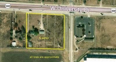 Denton Commercial Lots & Land For Sale: 3819 W University Drive