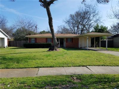 Irving Single Family Home Active Option Contract: 926 Liberty Drive