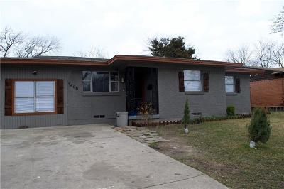 Mesquite Single Family Home For Sale: 1405 Hillcrest Street