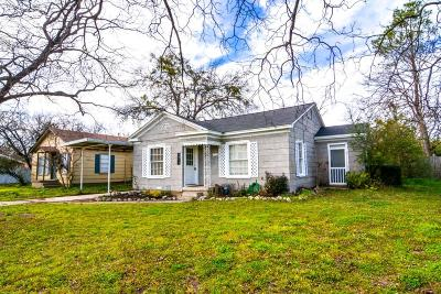 Stephenville Single Family Home Active Option Contract: 1075 W Shirley Street