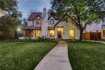 Dallas County Single Family Home For Sale: 3837 Villanova Street
