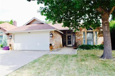Keller Single Family Home Active Option Contract: 447 Pebblecreek Drive