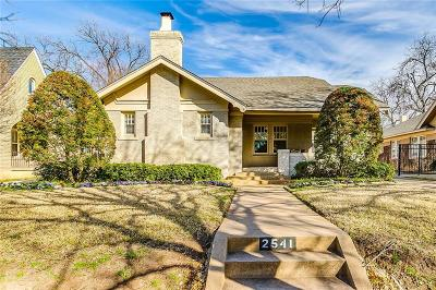 Fort Worth Single Family Home Active Option Contract: 2541 Greene Avenue