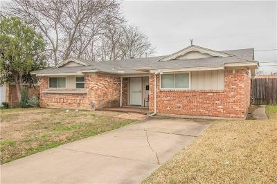 Irving Single Family Home Active Contingent: 2606 Ridgewood