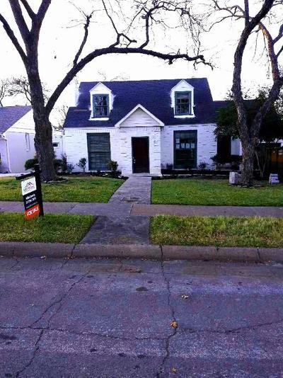 Dallas County Single Family Home Active Option Contract: 6929 Hammond Avenue
