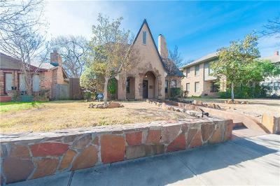 Dallas TX Single Family Home For Sale: $899,900