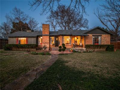 Dallas Single Family Home Active Contingent: 1222 N Selva Drive
