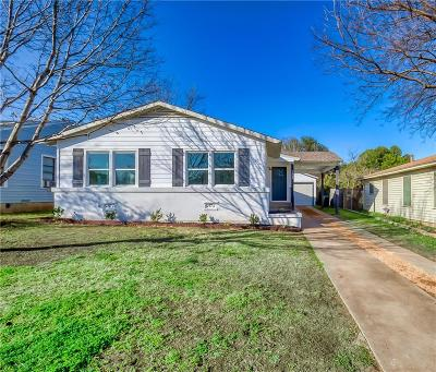Fort Worth Single Family Home For Sale: 3808 Lafayette Avenue