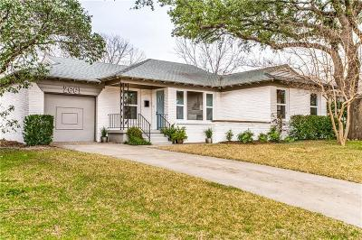 Dallas Single Family Home Active Option Contract: 2661 San Paula Avenue