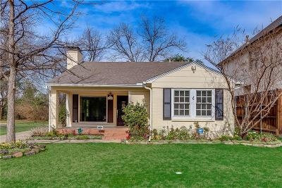 Dallas Single Family Home For Sale: 5607 Stanford Avenue