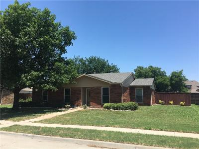 Coppell Single Family Home Active Option Contract: 458 Clear Creek Lane