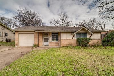 Arlington Single Family Home Active Option Contract: 1501 E Tucker Boulevard