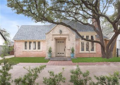 Highland Park Single Family Home For Sale: 4405 Mockingbird Lane