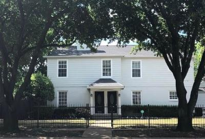 Dallas Residential Lease For Lease: 5054 W University Boulevard