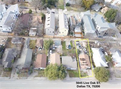Dallas Single Family Home For Sale: 5645 Live Oak Street
