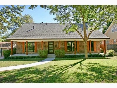 Richardson Single Family Home Active Contingent: 1119 Greenway Drive