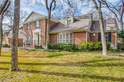 Dallas Single Family Home For Sale: 9119 Mercer Drive