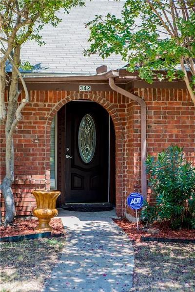 Coppell Single Family Home For Sale: 342 Parkwood Lane