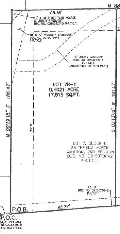 North Richland Hills Residential Lots & Land For Sale: 7900 Turner Drive