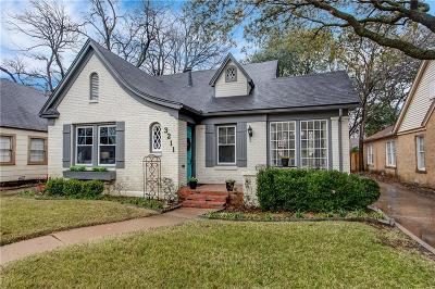 Fort Worth Single Family Home For Sale: 3211 Cockrell Avenue