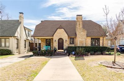 Dallas Single Family Home For Sale: 5842 Mercedes Avenue