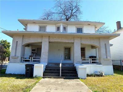 Fort Worth Multi Family Home For Sale: 1501 S Adams Street