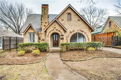Dallas Single Family Home For Sale: 510 Valencia Street