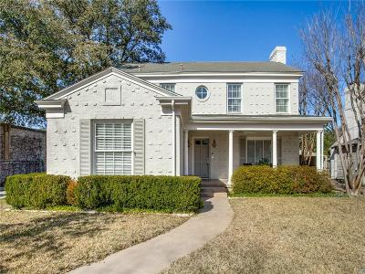 Dallas County Single Family Home Active Option Contract: 4520 Stanhope Street