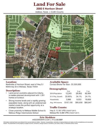 Melissa Residential Lots & Land For Sale: 2007 E Harrison Street