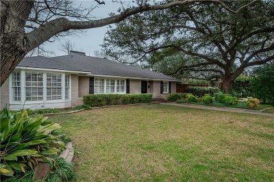 Preston Hollow Single Family Home For Sale: 6823 Tulip Lane