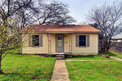 White Settlement Single Family Home Active Option Contract: 309 Lockwood Street