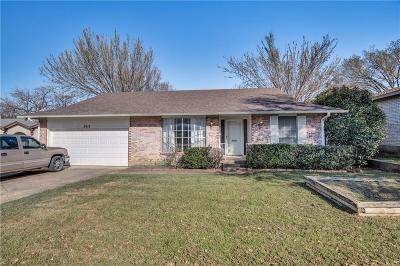 Irving Single Family Home Active Option Contract: 2412 Timberlake Drive