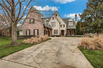 Dallas County Single Family Home For Sale: 6239 Prestonshire