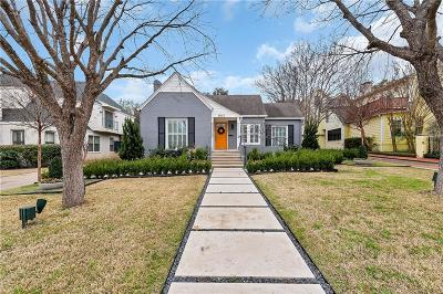 Fort Worth Single Family Home For Sale: 3913 Hamilton Avenue