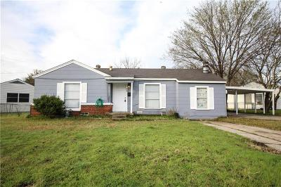 Mesquite Single Family Home Active Option Contract: 418 E Holley Street