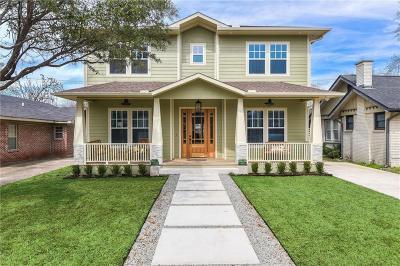 Dallas Single Family Home For Sale: 5247 Miller Avenue